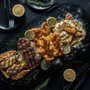 غذای رستوران لئون